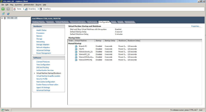 vSphere VM Auto Startup and Shutdown 1