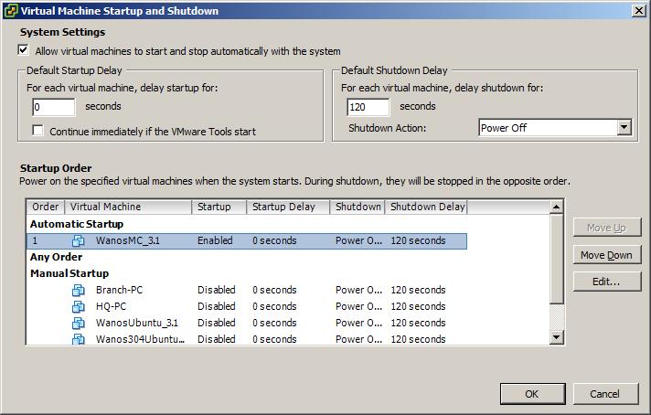 vSphere VM Auto Startup and Shutdown 2