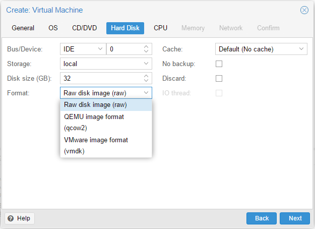 Proxmox HardDisk