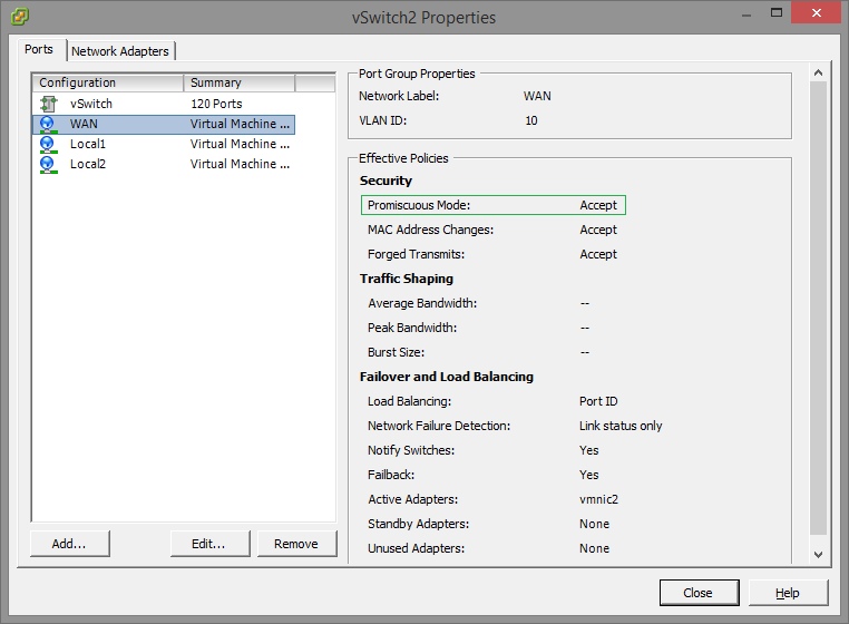 ESXi Promiscuous mode for Wan Optimization